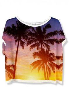 Chicwish Palm Tree Print T-shirt