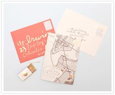 New invites from Cheree Berry, photographed by Edyta Szyszlo, featured on 100 Layer Cake.
