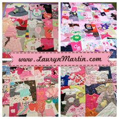 Custom Memory Quilt | baby clothes quilt | www.LaurynMartin.com