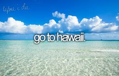 bucket list: go to hawaii