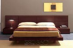 People Designer Panel Platform Bed v.10 by Pianca