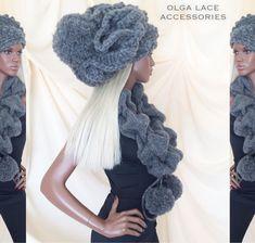 Купить или заказать Мега объёмная вязаная шапка 'Luxury' от Olga Lace в интернет-магазине на Ярмарке Мастеров. Мега объёмная вязаная шапка 'Luxury' от Olga Lace. Объёмная шапка в стиле кэжуал. Шапка связана крючком из шерстяной пряжи. Внутри шапки мягкая вязаная подкладка. Тепло, модно, необычно и стильно! Стоимость шапки - 6000 руб. В комплекте с шапкой Вы можете приобрести вязаный 3D шарф - воротник. Стоимость шарфа - 2000 руб.
