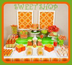 Layla's Wedding Board: Citrus Orange/Green Candy/Dessert Buffet by SugarPlumDesigns, via Flickr  ~Lori Cole for California Bridal Eventz