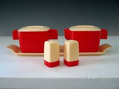 Mid Century Vintage Cream Sugar Salt Pepper Set by RetroRevival, $22.00