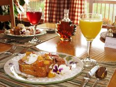 Stuffed peach french toast at the Berry Springs Lodge