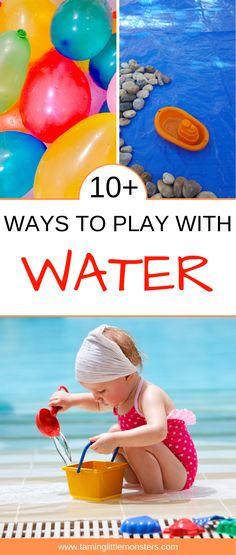 Water is the most wonderful play material. STEM experiments, arts and crafts and a whole heap of sensory play ideas. Babies, toddlers and preschoolers will love these different ways you can explore, learn and play with water. Quiet Toddler Activities, Fine Motor Activities For Kids, Activities For 2 Year Olds, Outdoor Activities For Kids, Sensory Activities, Sensory Play, Infant Activities, Toddler Preschool, Preschool Activities