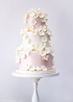 Falling Blossoms Wedding Cake by Rosalind Miller Cakes - London www.rosalindmillercakes.com cake decorating ideas