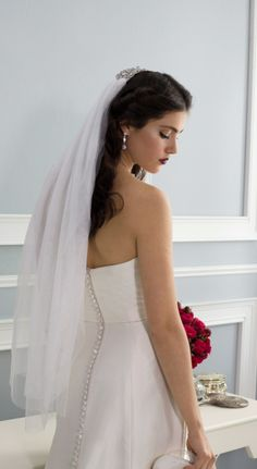 A veil accented with crystal sparkles