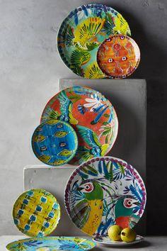 Aperta Melamine Canape Plate - anthropologie.com