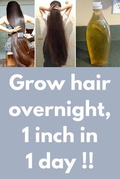 Grow hair overnight, 1 inch in 1 day ! In this article I will share with you How to grow your hair overnight, faster and longer. Grow your Hair 1 inch in 1 day. A Magical Formula to Grow your Hair Super fast, Guaranteed Result. For this you will nee Growing Long Hair Faster, Hair Growing Tips, Longer Hair Faster, How To Grow Your Hair Faster, How To Grow Natural Hair, Grow Long Hair, Grow Thicker Hair, Coconut Oil Hair Treatment, Coconut Oil Hair Growth