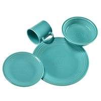 Turquoise Fiestaware. I'm afraid I'm going to want a TON of color in our house and you're not... :)