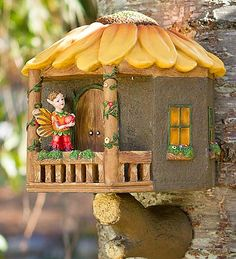 Mountable Fairy Sunflower Tree House