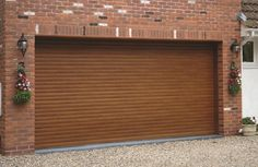 RSG7000 Electrically Operated Security Roller Garage Doors fitted externally to a residential area in Harrow