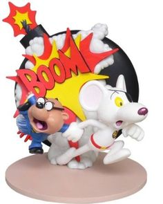 Shop Danger Mouse and Penfold Explosion Resin Statue. 4th Birthday, Birthday Parties, Birthday Cakes, Birthday Ideas, Modern Toys, Danger Mouse, Mouse Cake, Mouse Parties, Party Themes