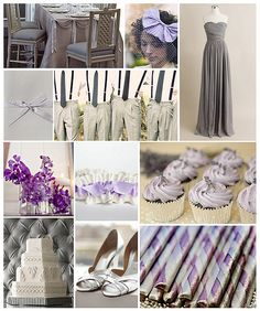 Lavender & Grey Wedding #purple #gray