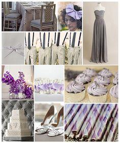 Lavender & Grey Wedding #purple #gray