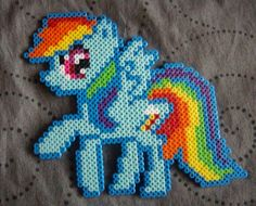 My Little Pony con hama beads, hama mini, perler, etc