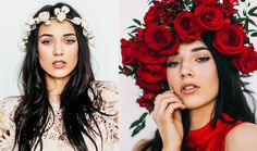 NATURAL LIGHT Photoshoot with Flower Crowns! - YouTube