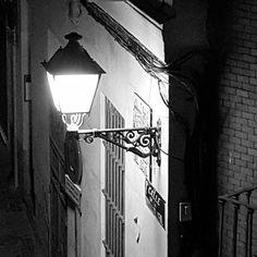 #Streetlight in #Madrid. #night #light #bw
