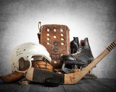 Vintage Hockey Gear on Wood Photo Photo art Print Boys Room decor Boys Nursery Ideas Sports art Sport Prints Man Cav Hockey Nursery, Hockey Bedroom, Photo On Wood, Photo Art, Hockey Decor, Fathers Day Sale, Hockey Mom, Hockey Stuff, Sport Photography