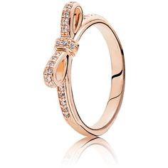 Designer rings for Women Pandora Jewelry Box, Bow Jewelry, Pandora Rings, Pandora Bracelets, Jewelry Design, Jewlery, Pandora Rose Gold, Rose Gold Engagement Ring, Yellow Gold Rings