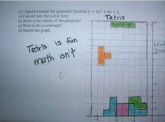 traduccion:el tetris es divertido las matematicas no