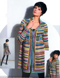 There are unique jacket, yes it's DIY Crochet Granny Square Jacket Cardigan Free Patterns Inspirations that will enhanced you styles. Diy Crochet Granny Square, Crochet Coat, Crochet Jacket, Crochet Cardigan, Knit Or Crochet, Crochet Shawl, Crochet Clothes, Crochet Sweaters, Irish Crochet
