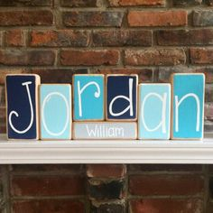 A personal favorite from my Etsy shop https://www.etsy.com/listing/508553481/baby-name-blocks-custom-baby-gift