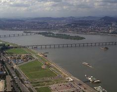 한강의 항공사진
