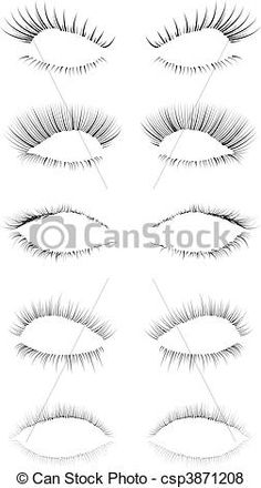 Eyelash Brushes by eriikaa.deviantart.com on @DeviantArt | Textura ...