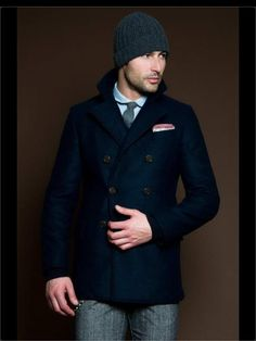 Everything my husband looks great in.... structured coats, beanies, dress shirts amd ties