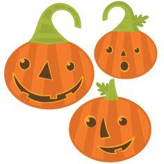 Daily Freebie 8-16-14--Miss Kate Cuttables--Jack-O-Lanterns Set SVG cutting files pumpkin svg cuts cute svg cut files cute cut files for cricut free svgs