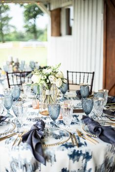 Boho Meets Modern in this North Georgia White Barn Wedding | The Perfect Palette Blue Weddings, Real Weddings, Creative Wedding Inspiration, White Barn, Shades Of Blue, Our Wedding, Georgia, Floral Design, Palette