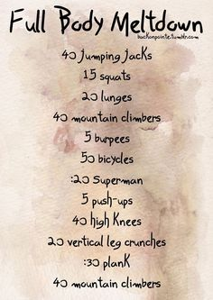 Best Workout Plan To Melt Your Body In Just 14 Days