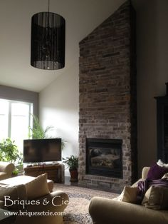 1000 images about projets projects on pinterest thin stone veneer mural - Revetement mural brique ...