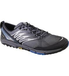 Cushioned for longer runs with waterproof and breathable fabric to keep your feet dry, this barefoot running shoe stays true to your natural stride through the thick of it. Charge over mountains and through creeks and rocky terrain with its aggressive, grabby lug design and TrailProtect pad for extra off-road support.