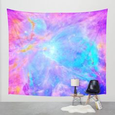 Wall Tapestry, Galaxy Wall Tapestry, Galaxy, Space, Orion Nebula, Wall Hanging, Wall Decoration, Lightweight Galaxy Throw Blanket, Pink by 2sweetsHomeDecor on Etsy