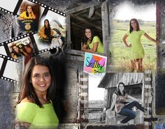 Senior collage designed and photos by Brenda