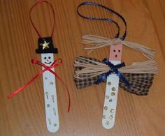 Homemade Angel Christmas Ornaments | Christmas Ornaments Made From Tongue Depressors | ThriftyFun