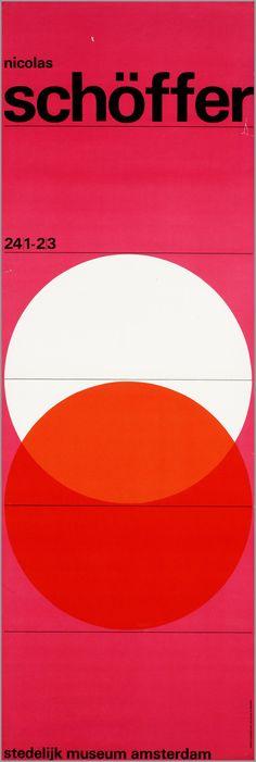 """Wim Crouwel's """"Nicolas Schoffer Stedelijk Museum Amsterdam"""""""