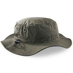 Mans Mens Sun Shade Summer Wide Brim Bucket Cargo Floppy Hat Olive Green  UPF50+ efb8b964100