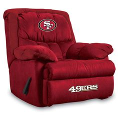 New York Jets NFL Home Team Recliner The most comfortable recliner you can imagine. New York Jets recliner has Overstuffed arms and back Vancouver Canucks, Green Bay Packers, Home Team, Oakland Athletics, Cincinnati Bengals, Detroit Red Wings, New York Jets, Washington Redskins, Kansas City Chiefs
