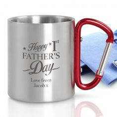 Engraved Carabiner Mug - Happy Father's Day