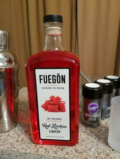 Fuegon #Red #Licorice #Liqueur! #Halloween #Cocktails here we come.   Mix with #rum for a true #RedRum #drinks. Did you know the #MustSee #StanleyHotel in #EstesPark #Colorado was the inspiration for the #Shinning #Book by #StephenKing  . . #liquor #booze #bar #mixology #hotel #cocktail #Martini #shots #bourbon #whiskey #tequila #beer #wine #vodka
