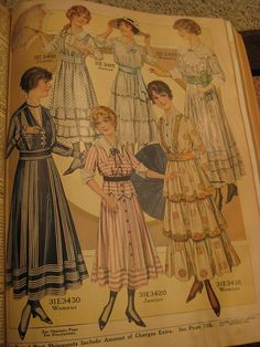 1916 Sears, Roebuck & Co. Catalog women's clothing section.