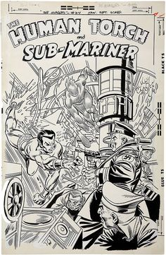 Original cover art by Gil Kane (pencils) and Frank Giacoia (inks) from The Invaders #24, published by Marvel Comics, January 1978.