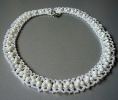 Free pattern for necklace Matilde Click on link to get pattern - http://beadsmagic.com/?p=7854