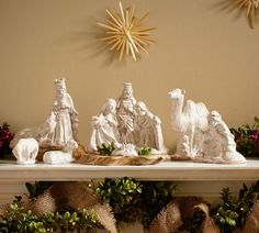 Ceramic Nativity Set - this one is pretty - i still haven't found one that i like yet...