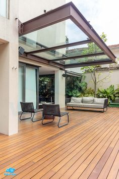 Pergola With Roof, Outdoor Pergola, Outdoor Rooms, Deck Enclosures, Garage To Living Space, Balcony Grill Design, A Frame House Plans, Bungalow Renovation, House Viewing