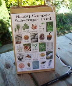SCAVANGER HUNTS WITH PICTURES FOR KIDS | How to Make a Camping Scavenger Hunt For The Kids